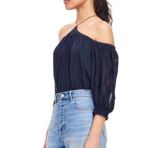 NWT Rebecca Taylor Open Shoulder Selina Top